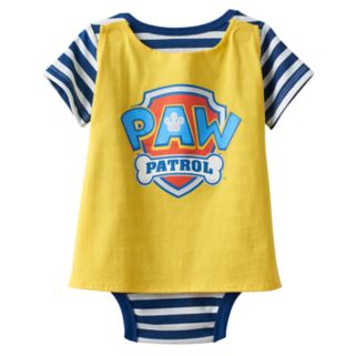 """Baby Boy Paw Patrol """"Calling All Pups"""" Chase, Rubble & Marshall Bodysuit & Cape Set"""