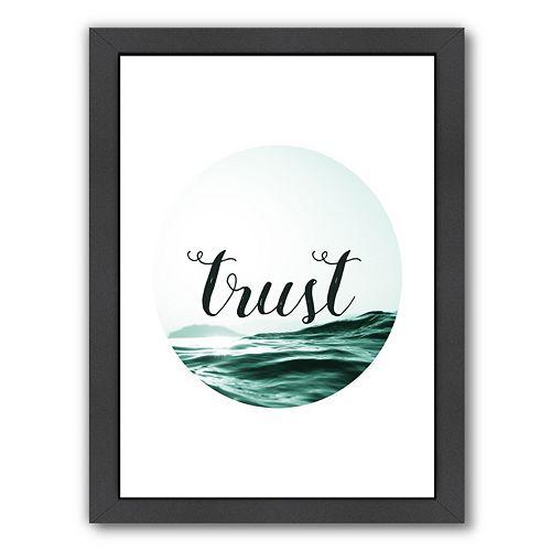 "Americanflat ""Trust"" Framed Wall Art"