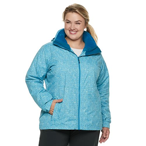 Plus Size Columbia Ruby River Hooded 3-in-1 Systems Jacket