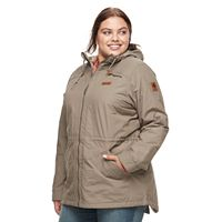 Plus Size Columbia Cedar Grove Flannel-Lined Rain Jacket