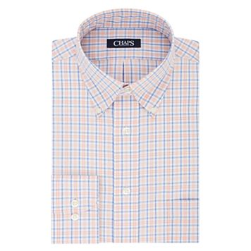 Men's Chaps Regular-Fit Plaid No-Iron Dress Shirt