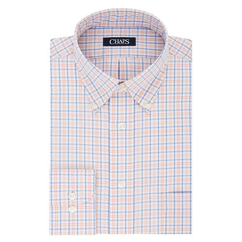 Men's Chaps Regular-Fit Plaid No-Iron Dress Shirt