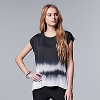 Women's Simply Vera Vera Wang Dip-Dye Hem Top