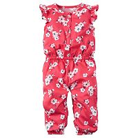 Baby Girl Carter's Floral Henley Jumpsuit