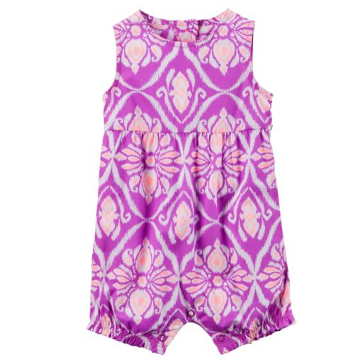 Baby Girl Carter's Print Shirred Romper