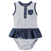 Baby Girl Carter's Striped Henley Sunsuit
