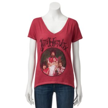 Juniors' Jimi Hendrix Vintage Graphic Tee