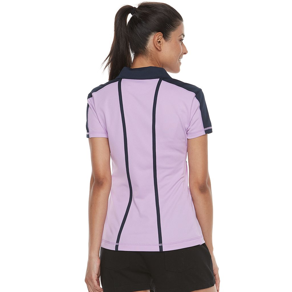 Women's FILA SPORT® Mesh Short Sleeve Golf Polo