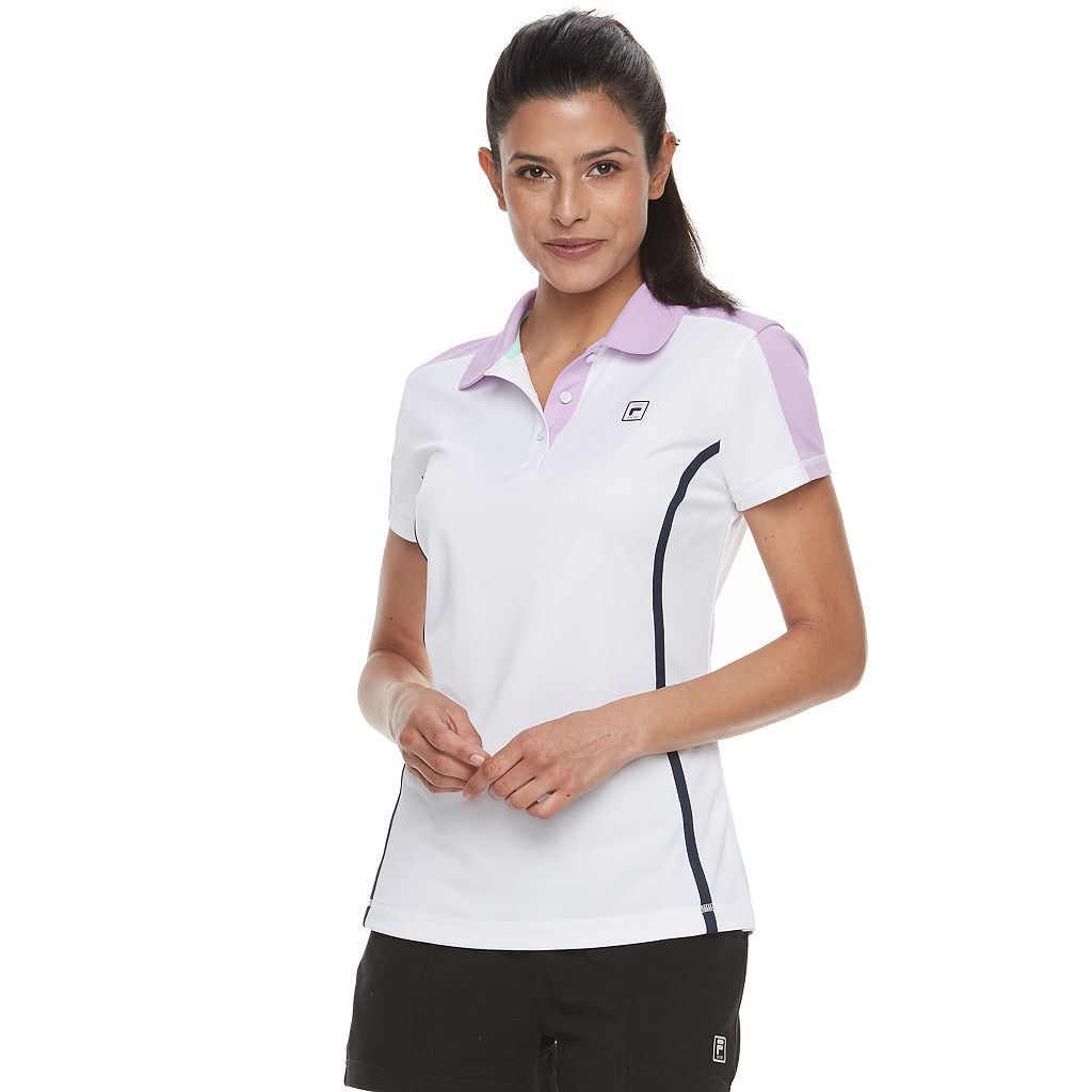 Women's FILA SPORT® Mesh Short Sleeve Golf Polo