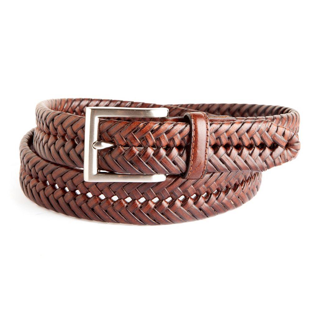Men's Croft & Barrow® Braided Leather Web Belt