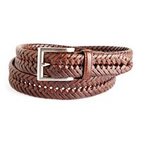 Men's Croft & Barrow® Braided Leather Web Belt