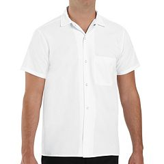 Men's Classic-Fit Button-Down Pocket Cook Shirt