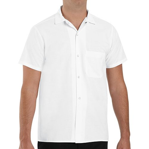 Men's Classic-Fit Button-Down Pocket Cook Shirt