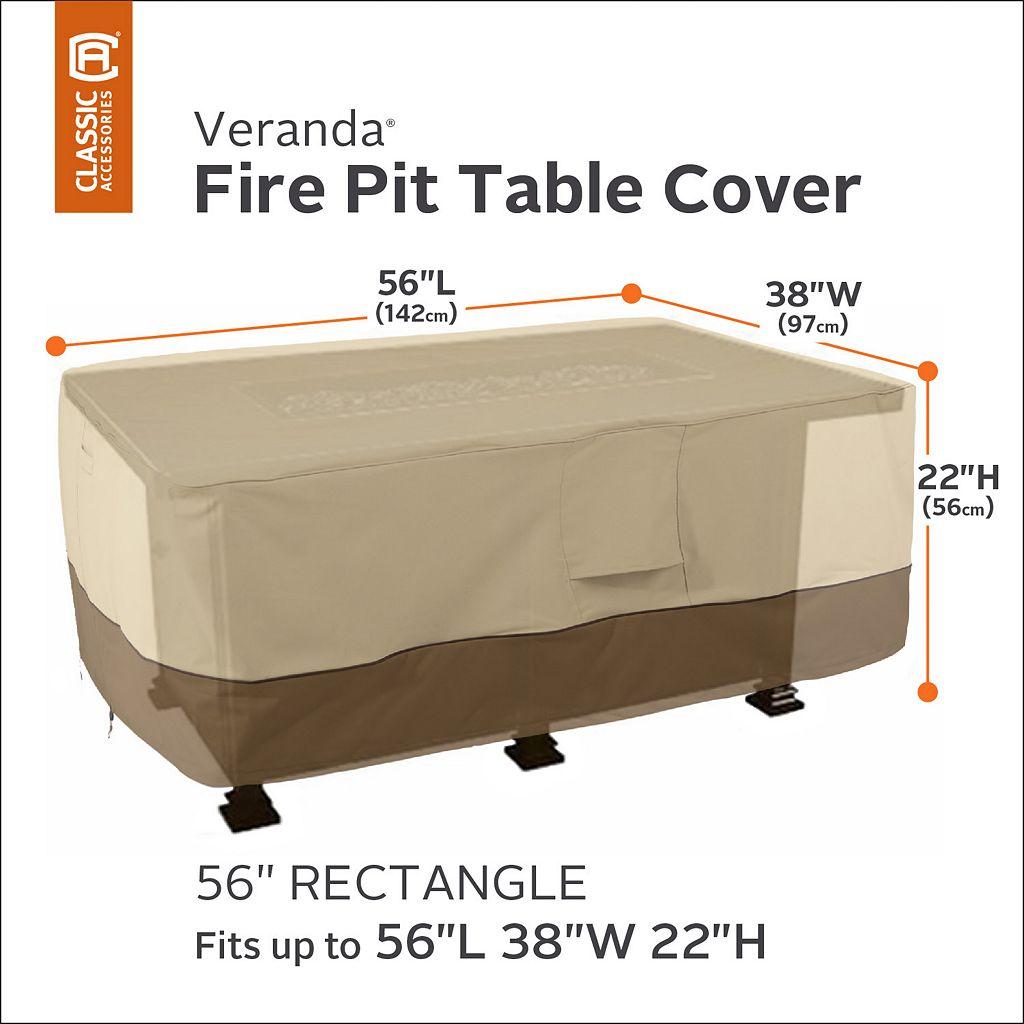Veranda 56-in. Rectangular Fire Pit Table Cover