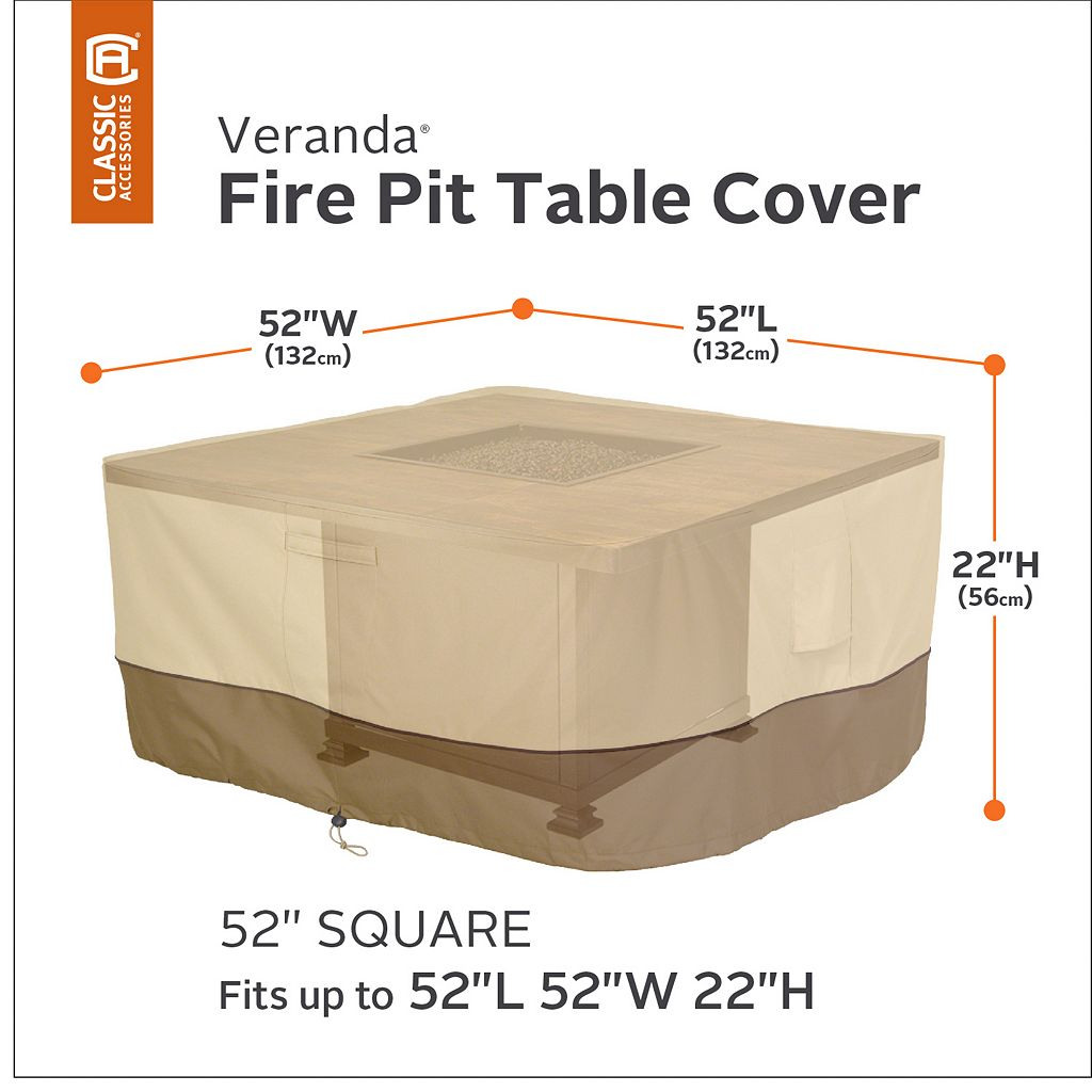 Veranda 52-in. Rectangular Fire Pit Table Cover