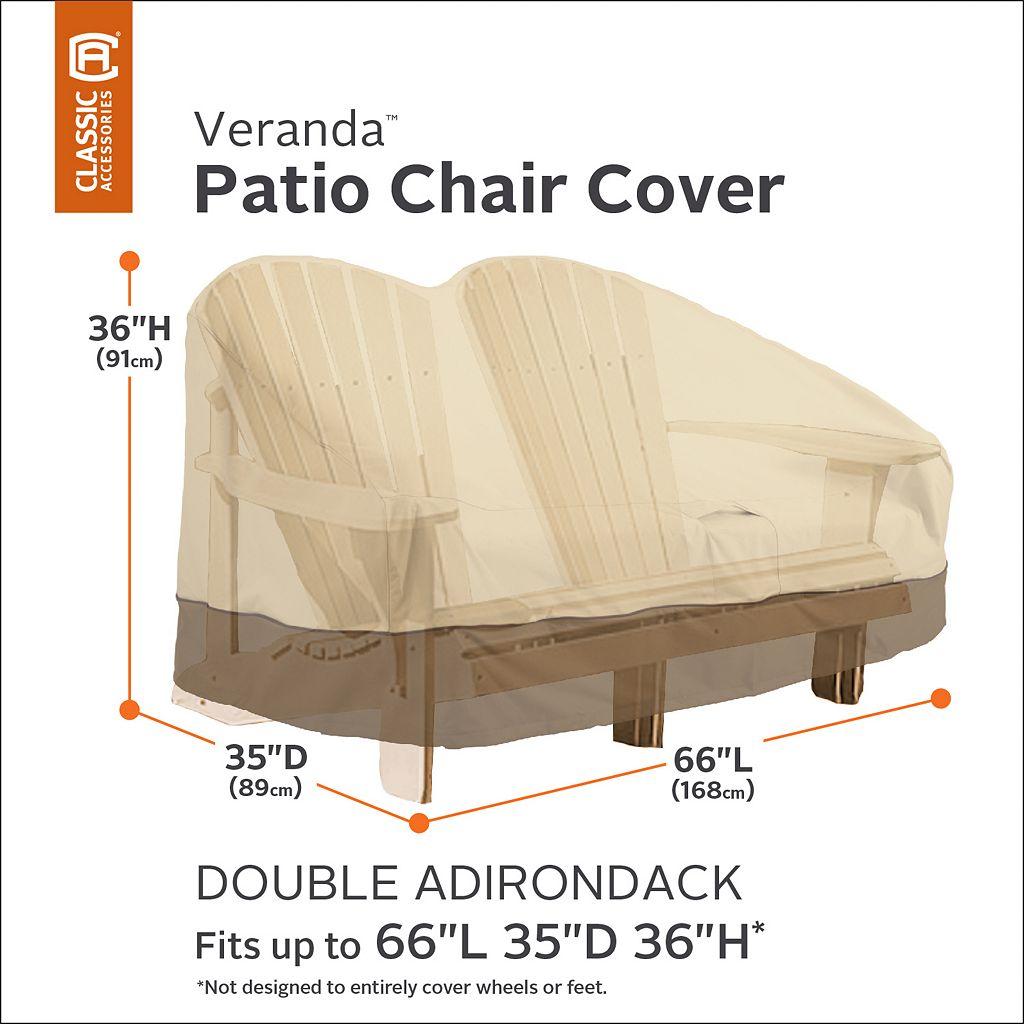 Veranda Double Adirondack Chair Cover