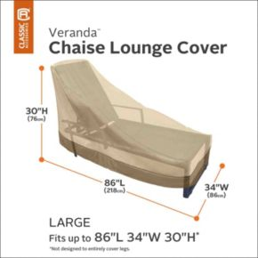 Veranda Large Patio Chaise Lounge Chair Cover