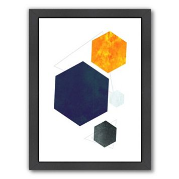 Americanflat Geometric Art 35 Framed Wall Art