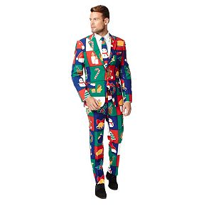Men's OppoSuits Slim-Fit Holiday Novelty Suit