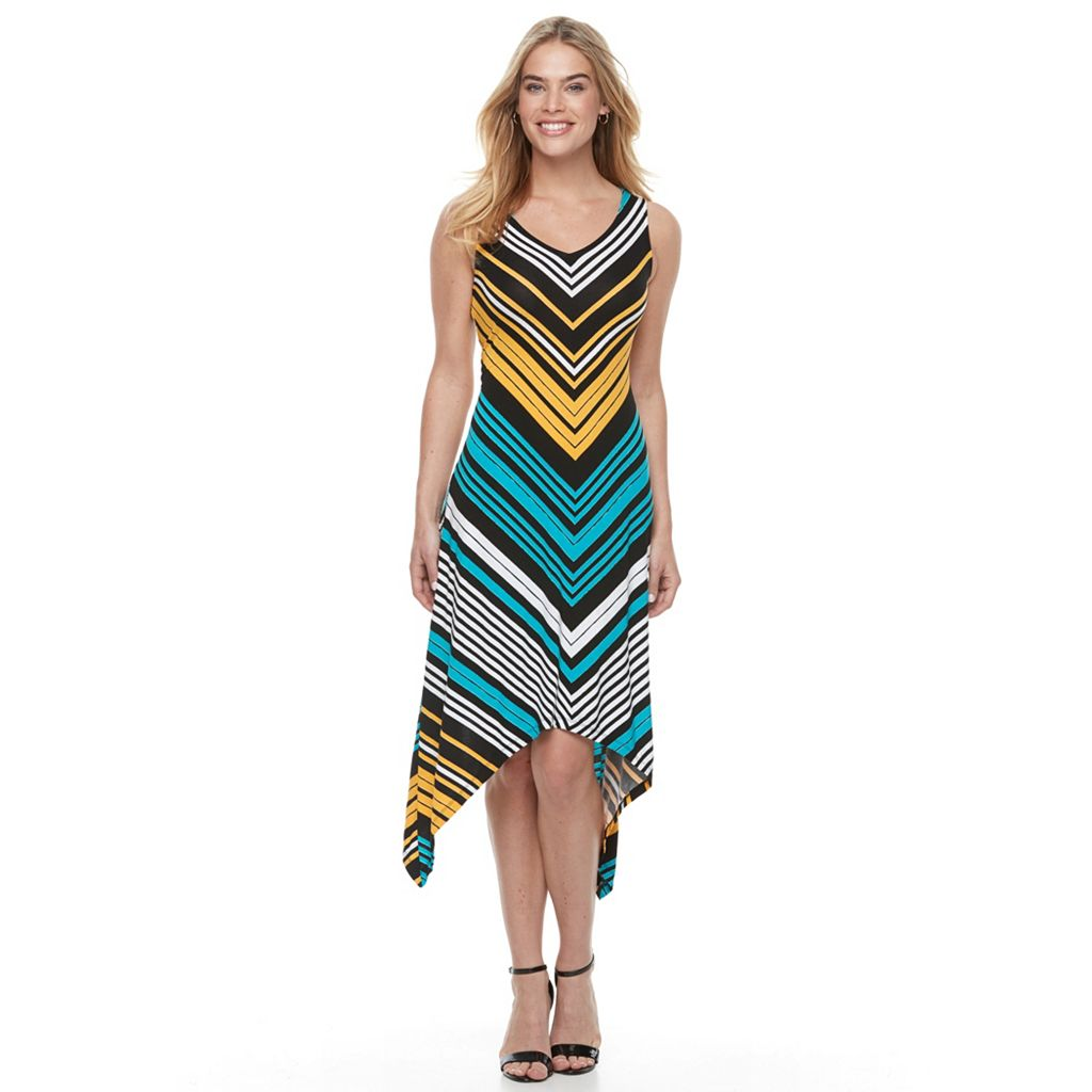 Petite Apt. 9® Printed Shark-Bite Dress