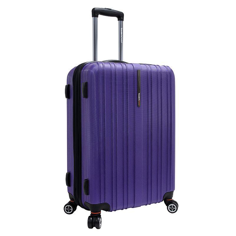 Traveler's Choice Tasmania Spinner Luggage, Purple, 21 Carryon