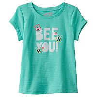 Toddler Girl Jumping Beans® Embroidered Graphic Roll Cuff Tee