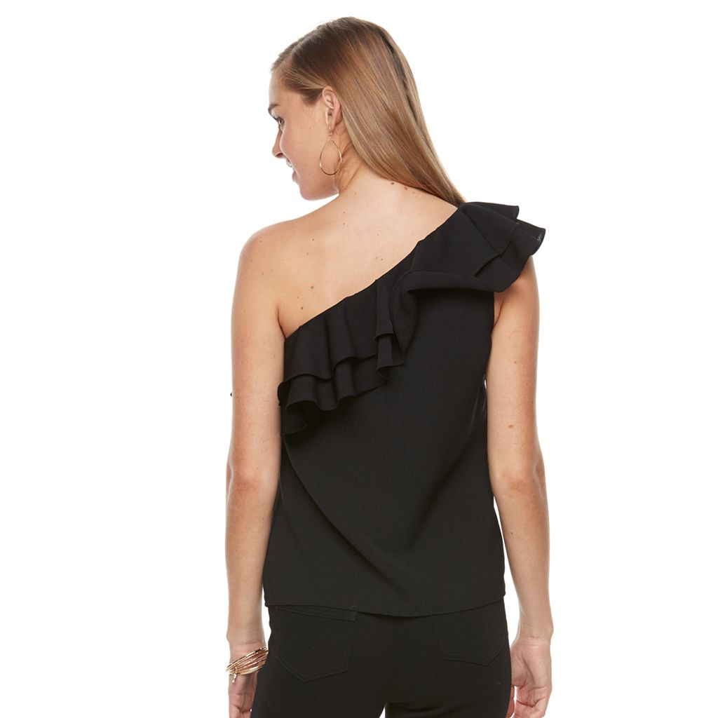 Women's Apt. 9® Ruffle One-Shoulder Top
