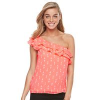 Women's Apt. 9® Ruffle One-Shoulder Top