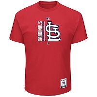Big & Tall Majestic St. Louis Cardinals Authentic Collection Tee