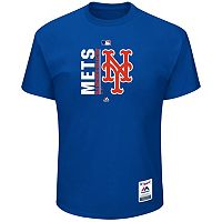 Big & Tall Majestic New York Mets Authentic Collection Tee