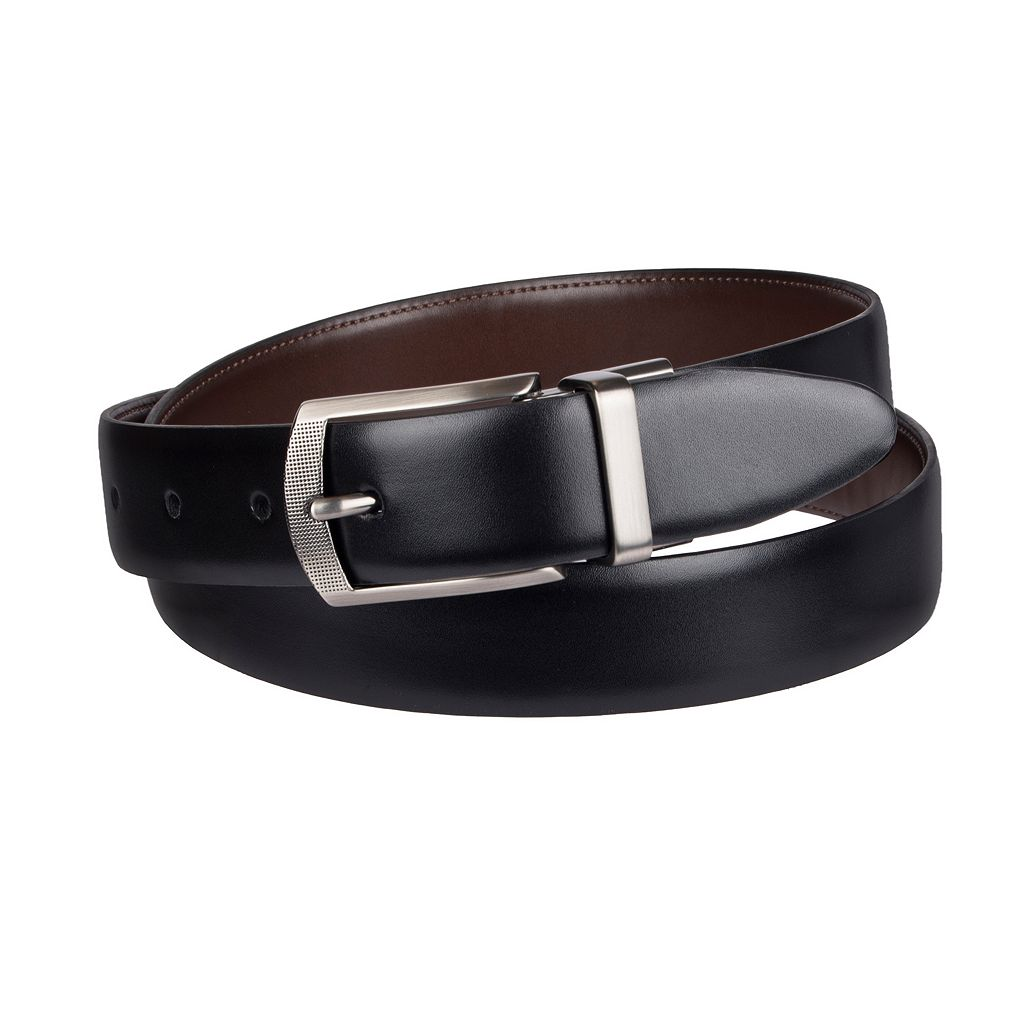 Men's Croft & Barrow® Reversible Feather Edge Dress Belt