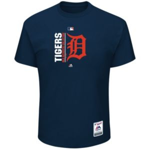 Big & Tall Majestic Detroit Tigers Authentic Collection Tee