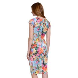 Women's Indication Printed Scuba Midi Dress