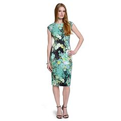 Women's Indication Printed Scuba Midi Dress