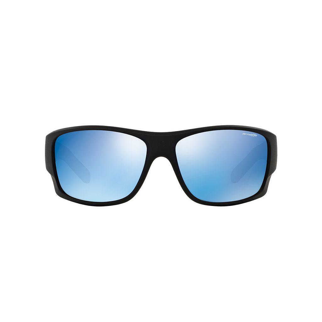 Arnette Shylock AN4215 66mm Rectangle Mirror Sunglasses