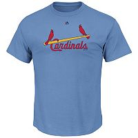 Big & Tall Majestic St. Louis Cardinals Cooperstown Logo Tee