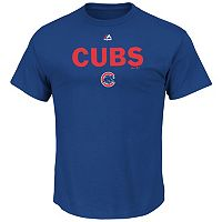 Big & Tall Majestic Chicago Cubs Cooperstown Logo Tee