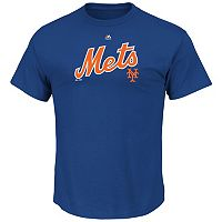 Big & Tall Majestic New York Mets Cooperstown Logo Tee