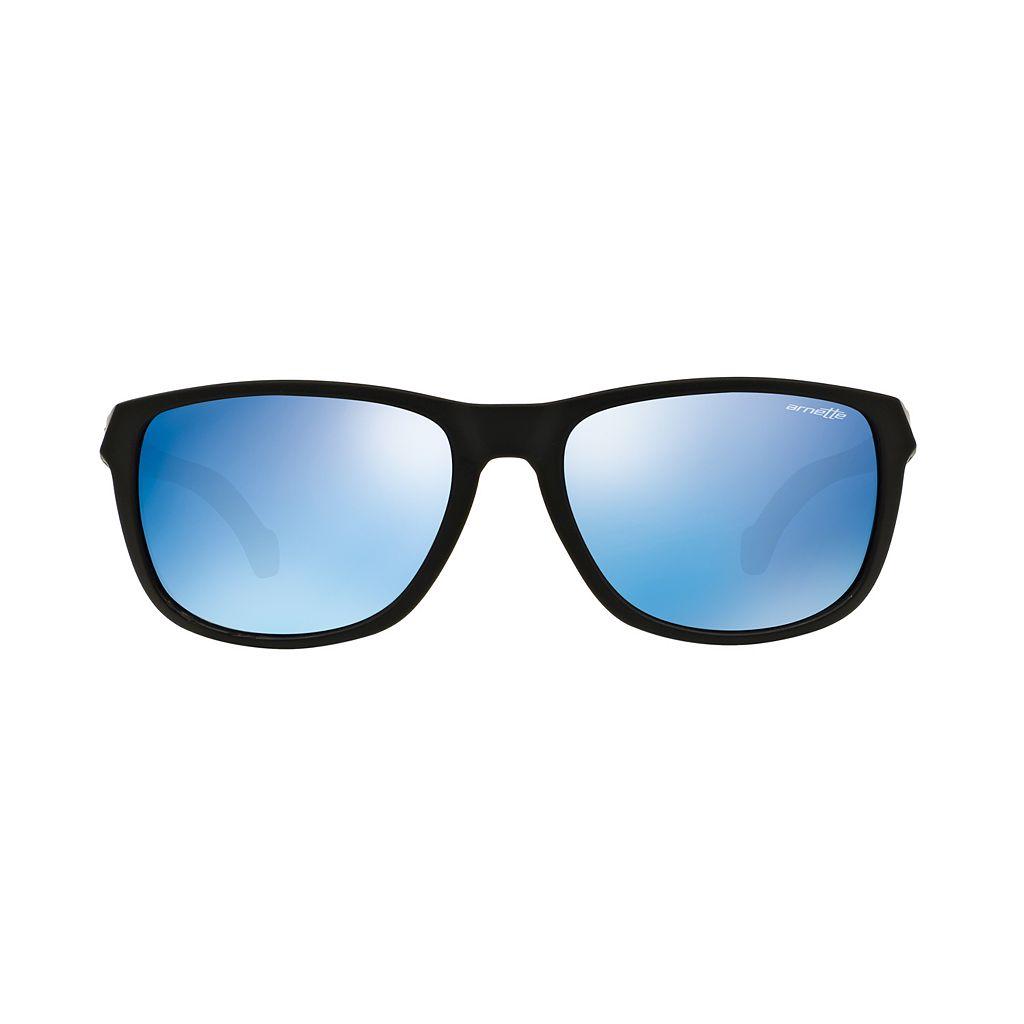 Arnette Straight Cut AN4214 58mm Rectangle Mirror Sunglasses