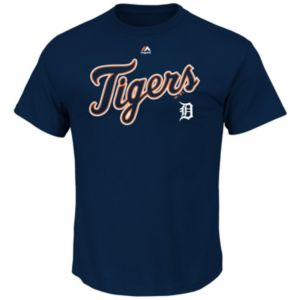 Big & Tall Majestic Detroit Tigers Cooperstown Logo Tee