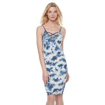 Women's Rock & Republic® Studded Tie-Dye Tank Dress