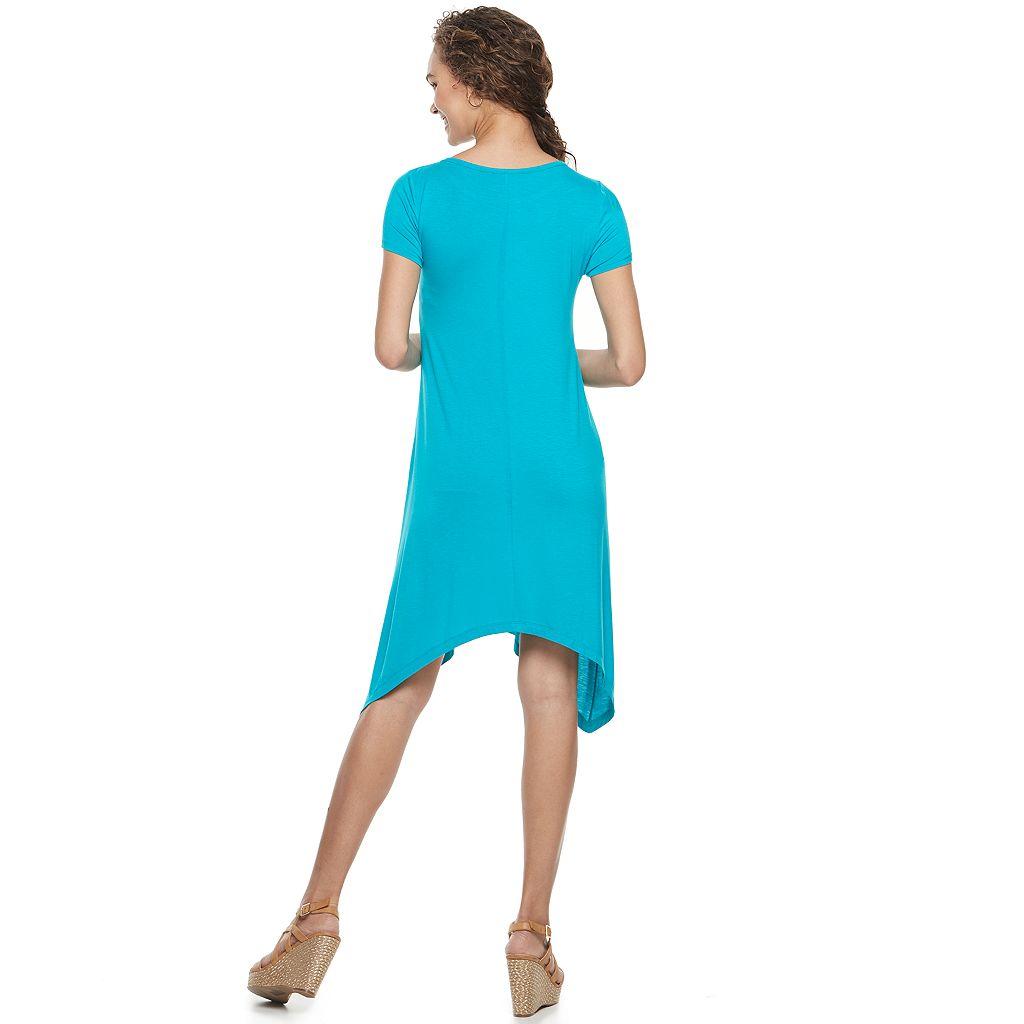 Women's Apt. 9® Shark-Bite T-Shirt Dress