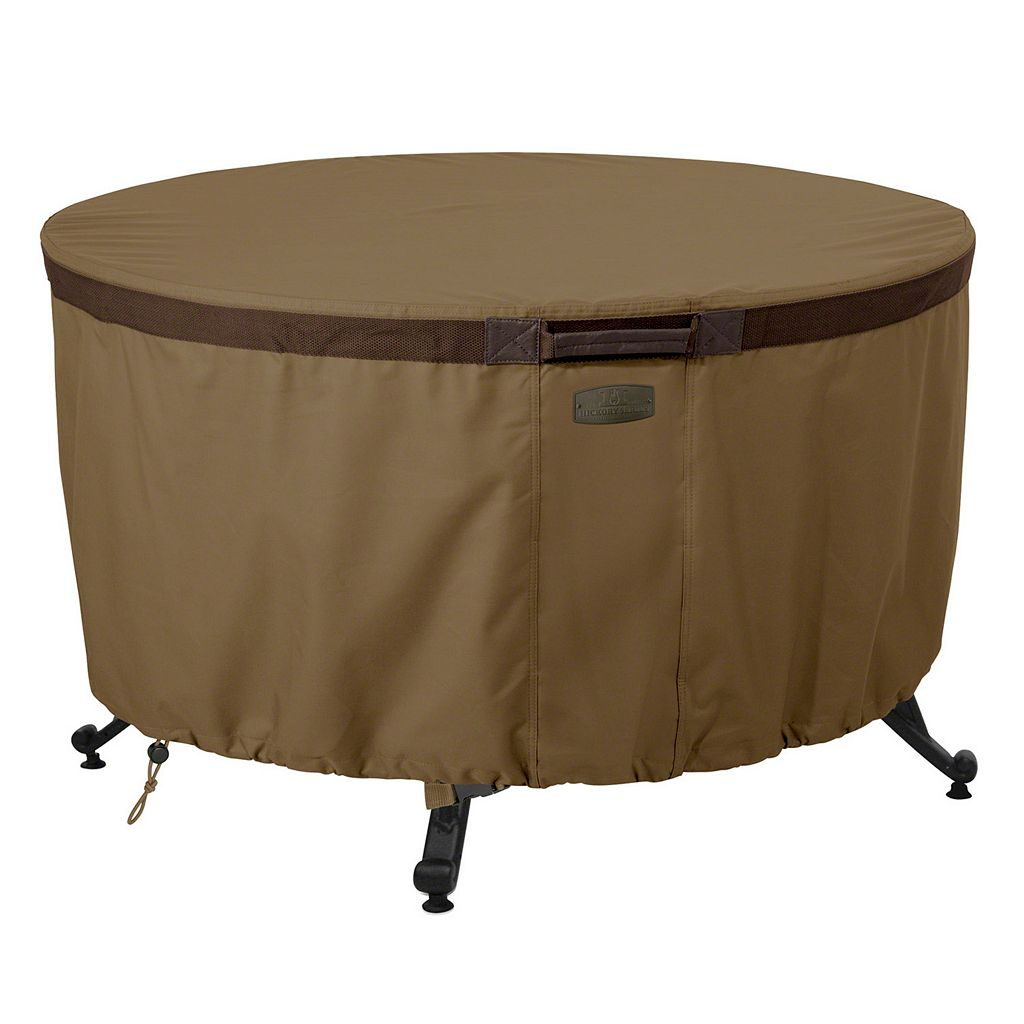 Hickory 42-in. Round Fire Pit Table Cover