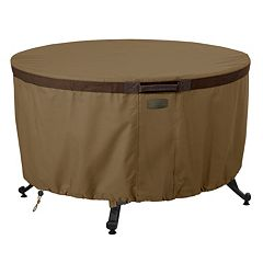 Hickory 42 in Round Fire Pit Table Cover