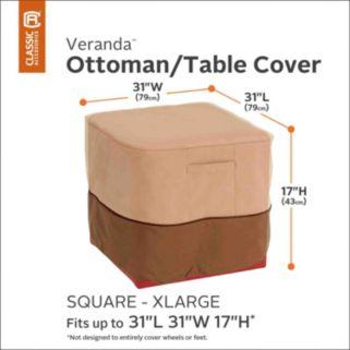 Veranda X-Large Square Patio Ottoman or Table Cover