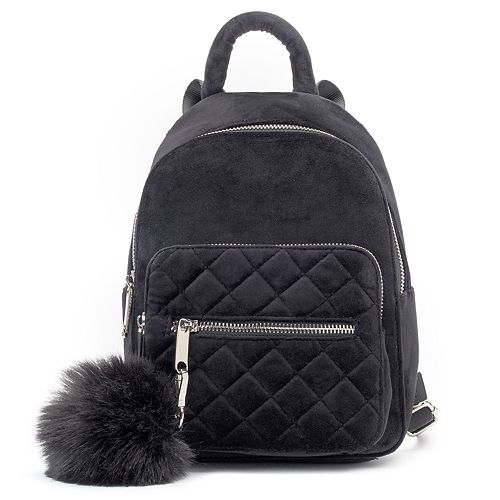 379e1d3b1a Candie s® Velvet Quilted Mini Backpack