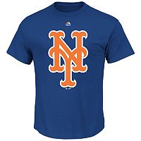 Big & Tall Majestic New York Mets Large Logo Tee