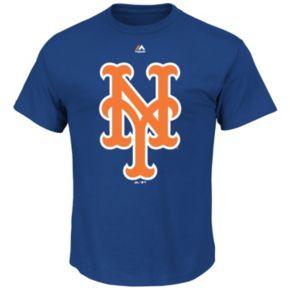 Big & Tall Majestic New York Mets Large Logo Tee