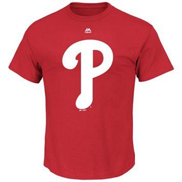 Big & Tall Majestic Philadelphia Phillies Large Logo Tee