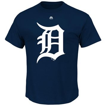 Big & Tall Majestic Detroit Tigers Large Logo Tee